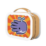 Hand shaped Happy Smile Whale Lunch Box