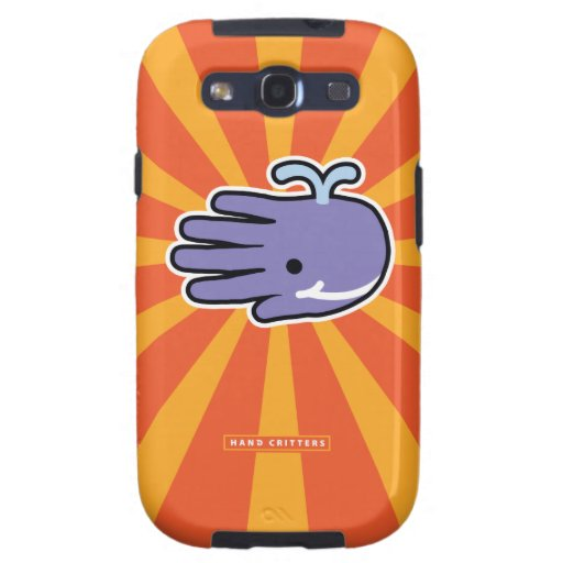 Happy Smile Whale Samsung Galaxy S3 Cover