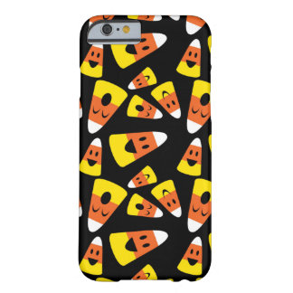 Happy smiley candy corn orange Halloween pattern Barely There iPhone 6 Case