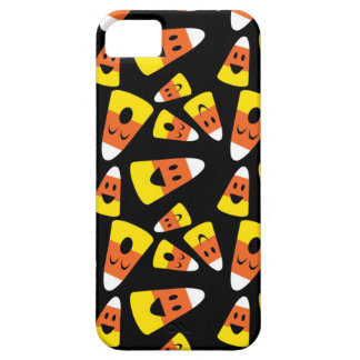 Happy smiley candy corn orange Halloween pattern iPhone 5 Cases