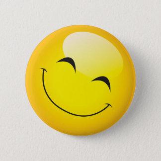 Happy Smiley Emoji Face Cute Cartoon Character Pinback Button