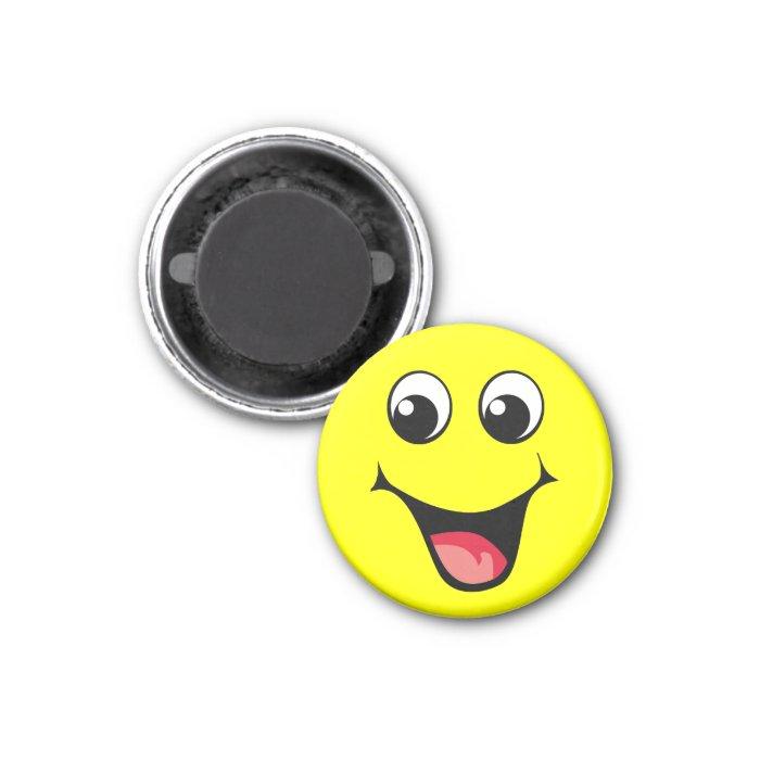 Happy Smiley Emoticon 1 Inch Round Magnet