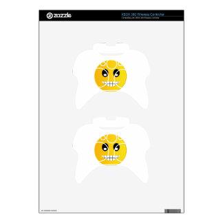 Happy smiley emoticon xbox 360 controller decal