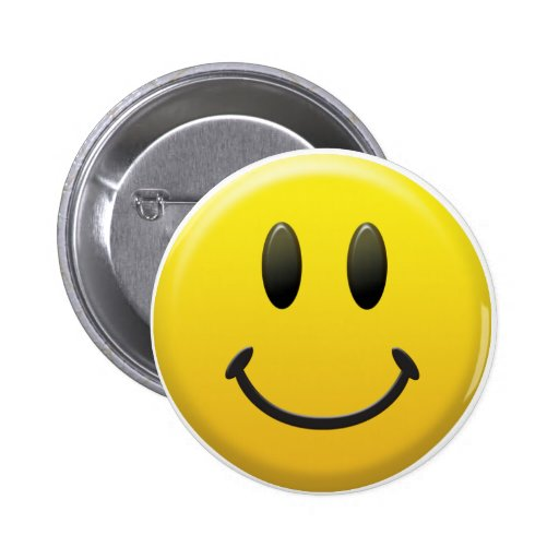 Happy Smiley Face 2 Inch Round Button
