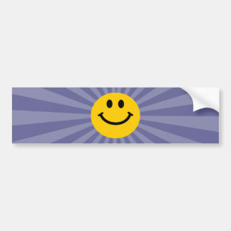 Happy Smiley Face Car Bumper Sticker
