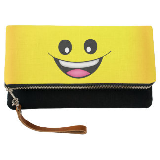 Happy Smiley Face Clutch