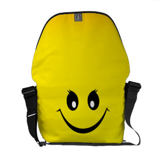 Happy Smiley Face Courier Bag