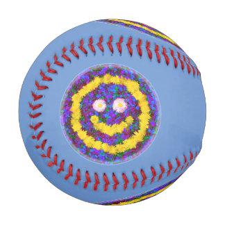 Happy Smiley Face Dandelion Flowers Baseball