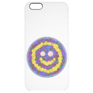 Happy Smiley Face Dandelion Flowers Clear iPhone 6 Plus Case