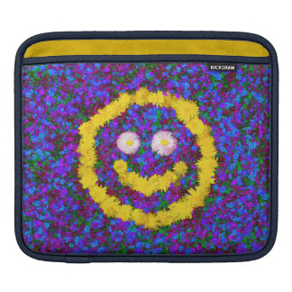 Happy Smiley Face Dandelion Flowers iPad Sleeves