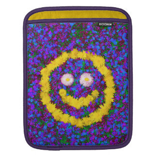 Happy Smiley Face Dandelion Flowers Sleeve For iPads