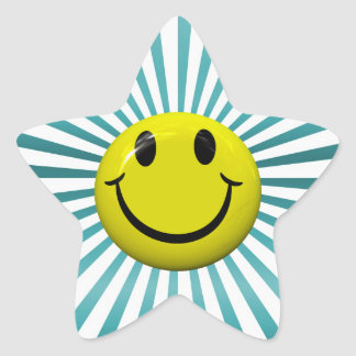 Happy Smiley Face Fun Star Stickers