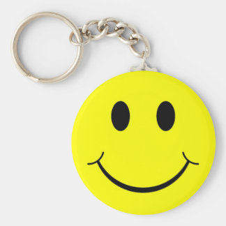 Happy Smiley Face Keychains