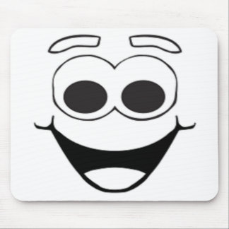 HAPPY SMILEY FACE MOUSEPAD
