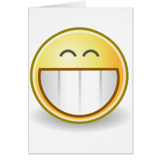 Happy Smiley Face Pattern Office Peace Destiny Greeting Card