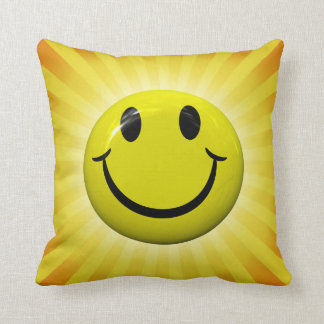 Happy Smiley Face Pillow
