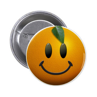 Happy Smiley Face Pinback Button