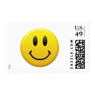 Happy Smiley Face Postage Stamp