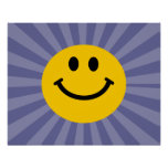Happy Smiley Face Poster