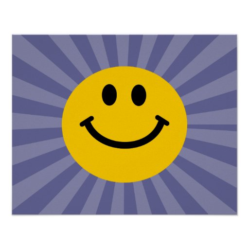 Happy Smiley Face Posters