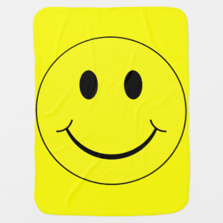 Happy Smiley Face Receiving Blanket