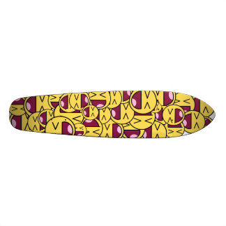 Happy smiley face. skateboard deck