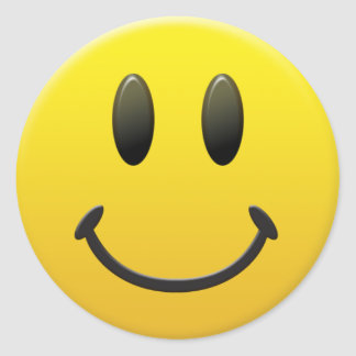 Happy Smiley Face Sticker