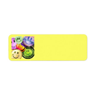 HAPPY SMILEY FACES Address Labels