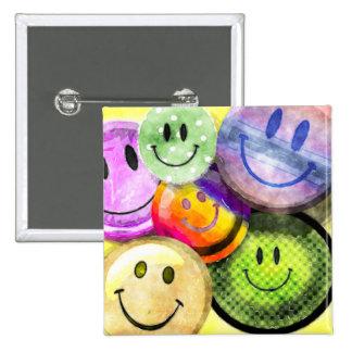 HAPPY SMILEY FACES Button
