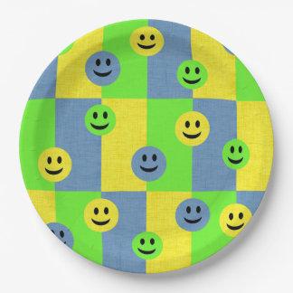 Happy Smiley Faces Emoji Paper Plates