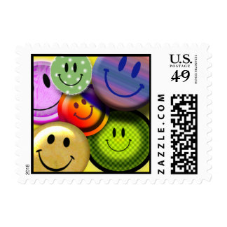 HAPPY SMILEY FACES Postage Stamps