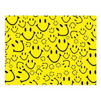 Happy Smiley Faces Postcard