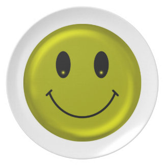 Happy Smiley - Glossy Design Melamine Plate