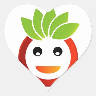 Happy smiley heart sticker