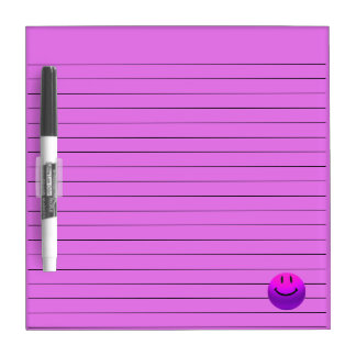 HAPPY SMILEY PINK PURPLE LINES WRITING NOTE BOARD Dry-Erase BOARDS
