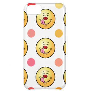 Happy Smiley & Polka Dots iPhone 5C Cover