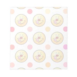 Happy Smiley & Polka Dots Notepad
