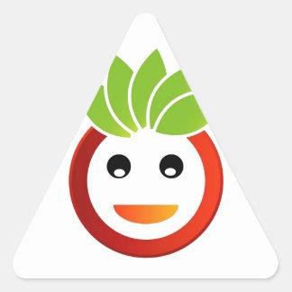 Happy smiley triangle sticker