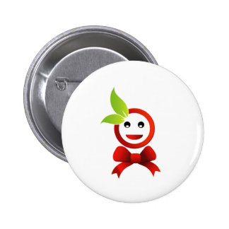Happy smiley with green leaves buttons