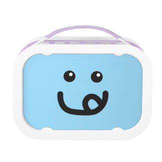 Happy Smiley Yummy Face_baby blue Lunch Box