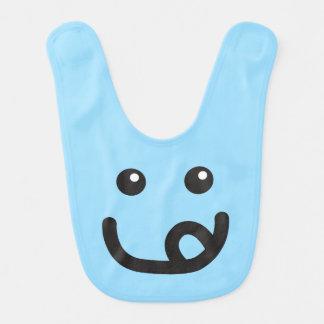 Happy Smiley Yummy Face_baby blue Bib