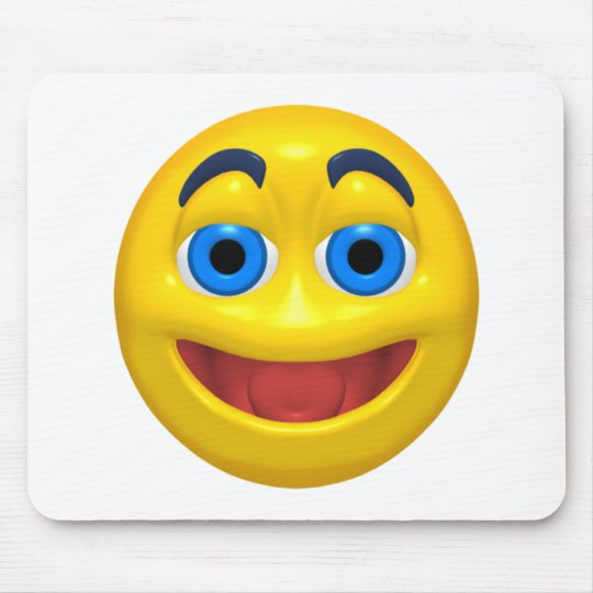 Happy smilie smiley mouse pad