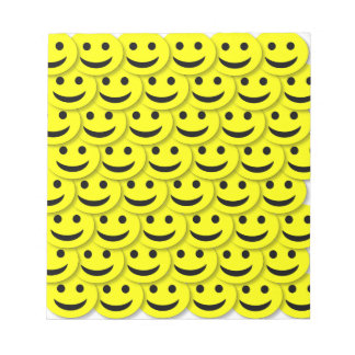 HAPPY SMILIES SMILE FACE CARTOONS YELLOW BLACK BAC NOTEPAD