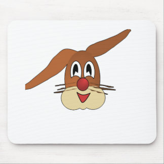 Happy smiling Bunny Mouse Pad