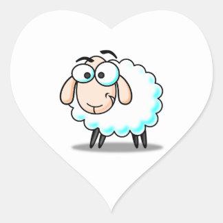 Happy Smiling Cartoon Sheep Sticker