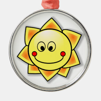 Happy Smiling Cartoon Sun Christmas Ornaments