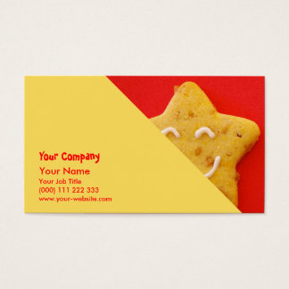 Happy smiling cookie business card