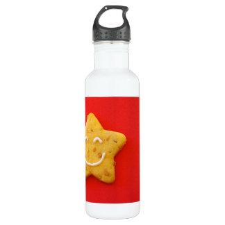 Happy smiling cookie water bottle
