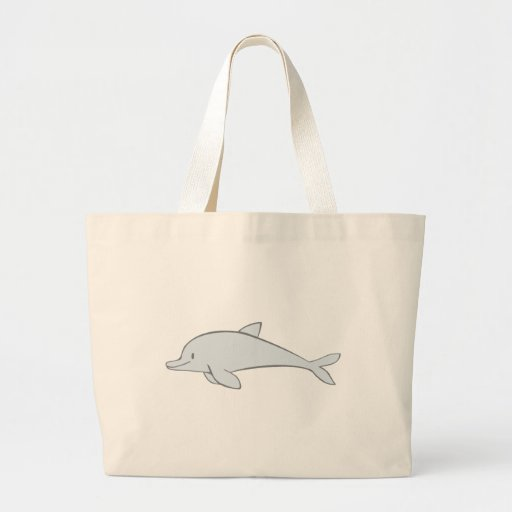 Happy Smiling Dolphin Canvas Bags