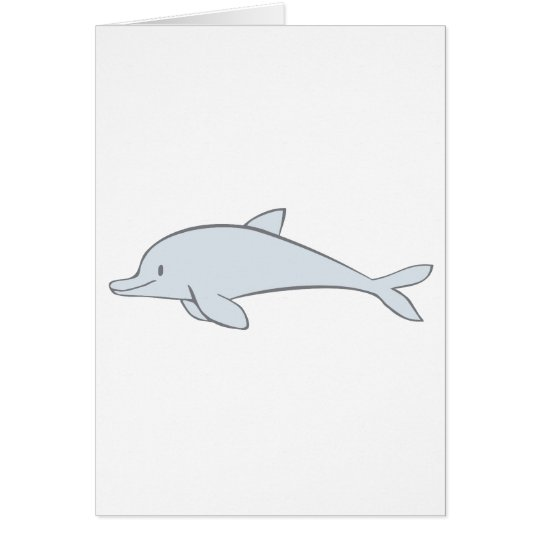 Happy Smiling Dolphin Card